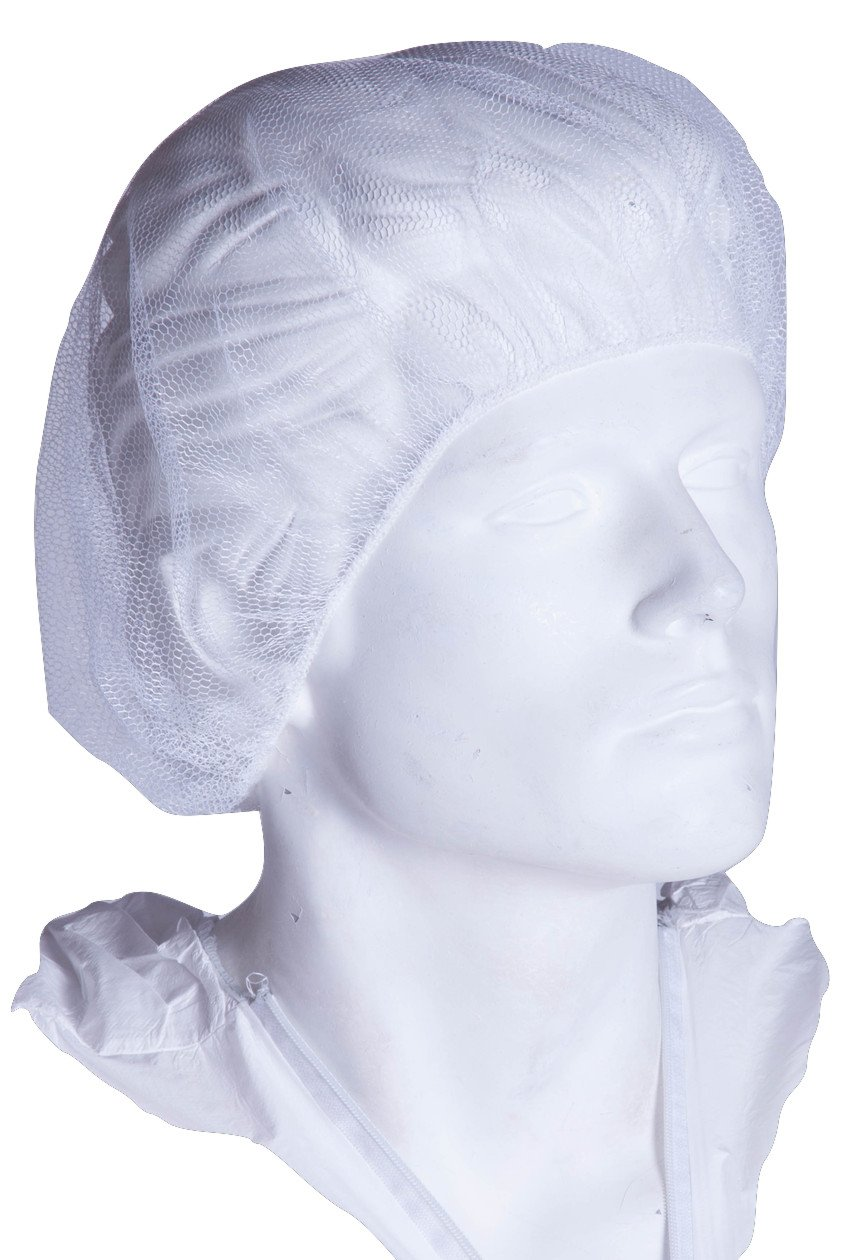 "Chu's Packaging Supplies PC2024M-N Hair Net, White, 24"" (Pack of 1000)"