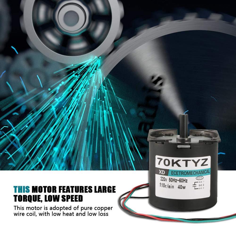 70KTYZ Motor El/éctrico Sincr/ónico V 110rpm 40W AC 220 2.5-110RPM Motor de Baja Velocidad Bobina de Alambre de Cobre Puro