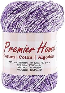 Premier Yarns Home Cotton Yarn, Violet Splash