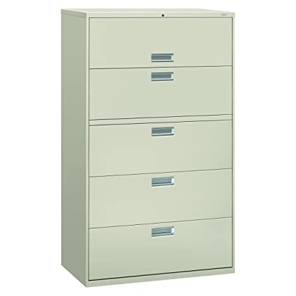 HON 5 Drawer Filing Cabinet   600 Series Lateral Or Legal Filing Cabinet,  42w