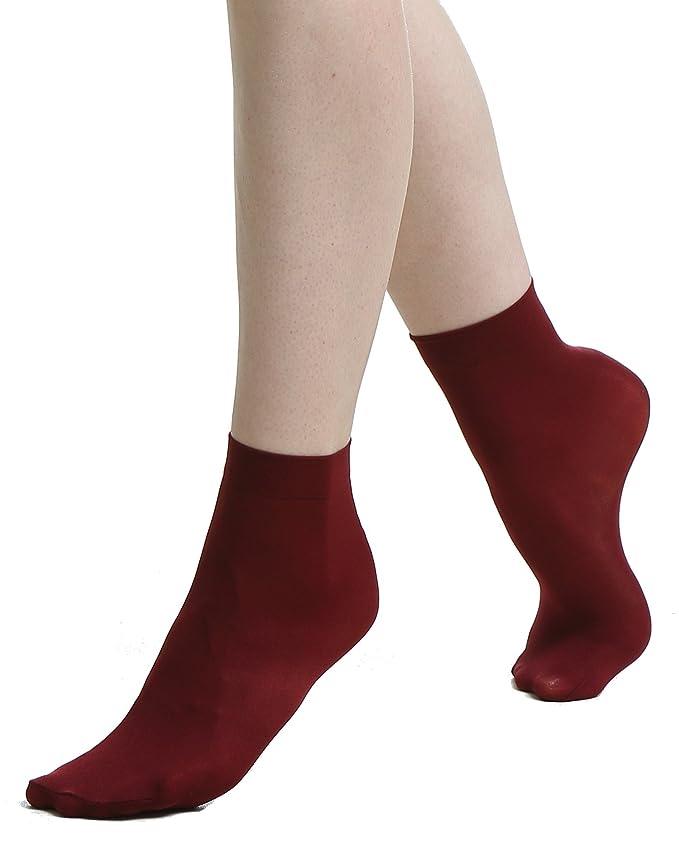 Milla Islanf - Calcetines cortos - para mujer Rojo granate Talla única: Amazon.es: Ropa y accesorios