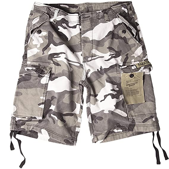dfe6a4ed57 Mil-Tec Paratrooper Cargo Shorts Prewashed Urban: Amazon.co.uk: Clothing