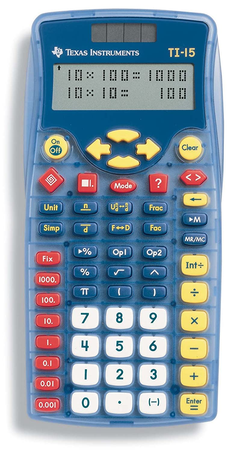 Texas Instruments TI-15 Explorer Elementary Calculator 15/PWB/2L1