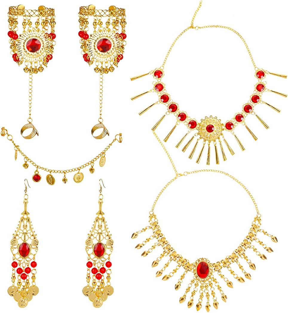 Outgeek Jewelry Set,Set Necklace for Women Stylish(7pcs)