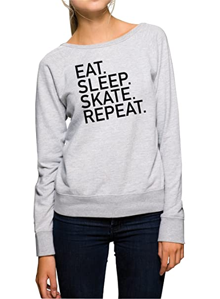 Certified Freak Eat Sleep Skate Repeat Sweater Girls Gris: Amazon.es: Ropa y accesorios