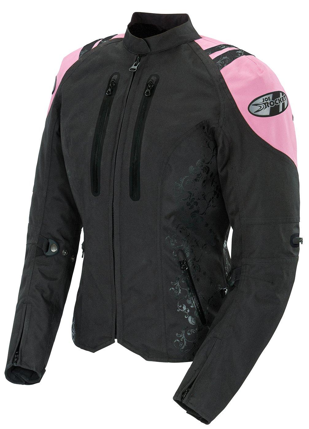 Joe Rocket Atomic 4.0 Women's Textile Riding Jacket (Black/Pink, Large)