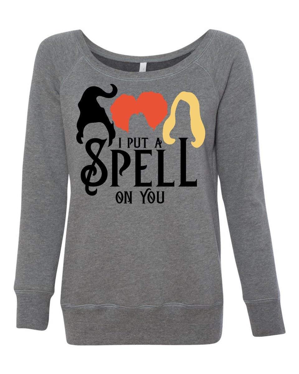 Hocus Pocus I Put a Spell On You Sanderson Sister Funny Halloween Wideneck Women's Sweatshirt