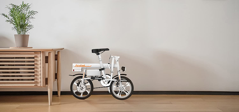 Airwheel R6 超小型 ボタン1つで自動伸縮 電動ハイブリット パナソニック製30.5v 18Ah バッテリー 電動アシスト自転車 ホワイト B07DZ4QLYH
