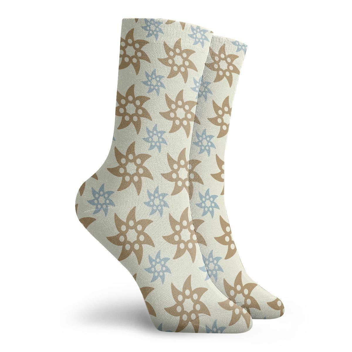 Adult Ninja Throwing Star Pattern Athletic Ankle Socks