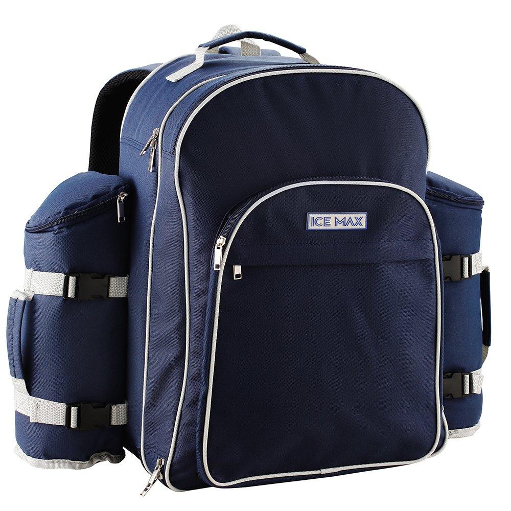 Icemax mochila de picnic con un conjunto de picnic para 6 personas Icemax backpack