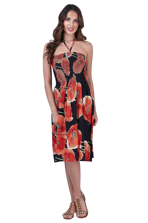 Pistachio Damen 3 In 1 Blumen-bandeau Midi Kleid: Amazon.de: Bekleidung