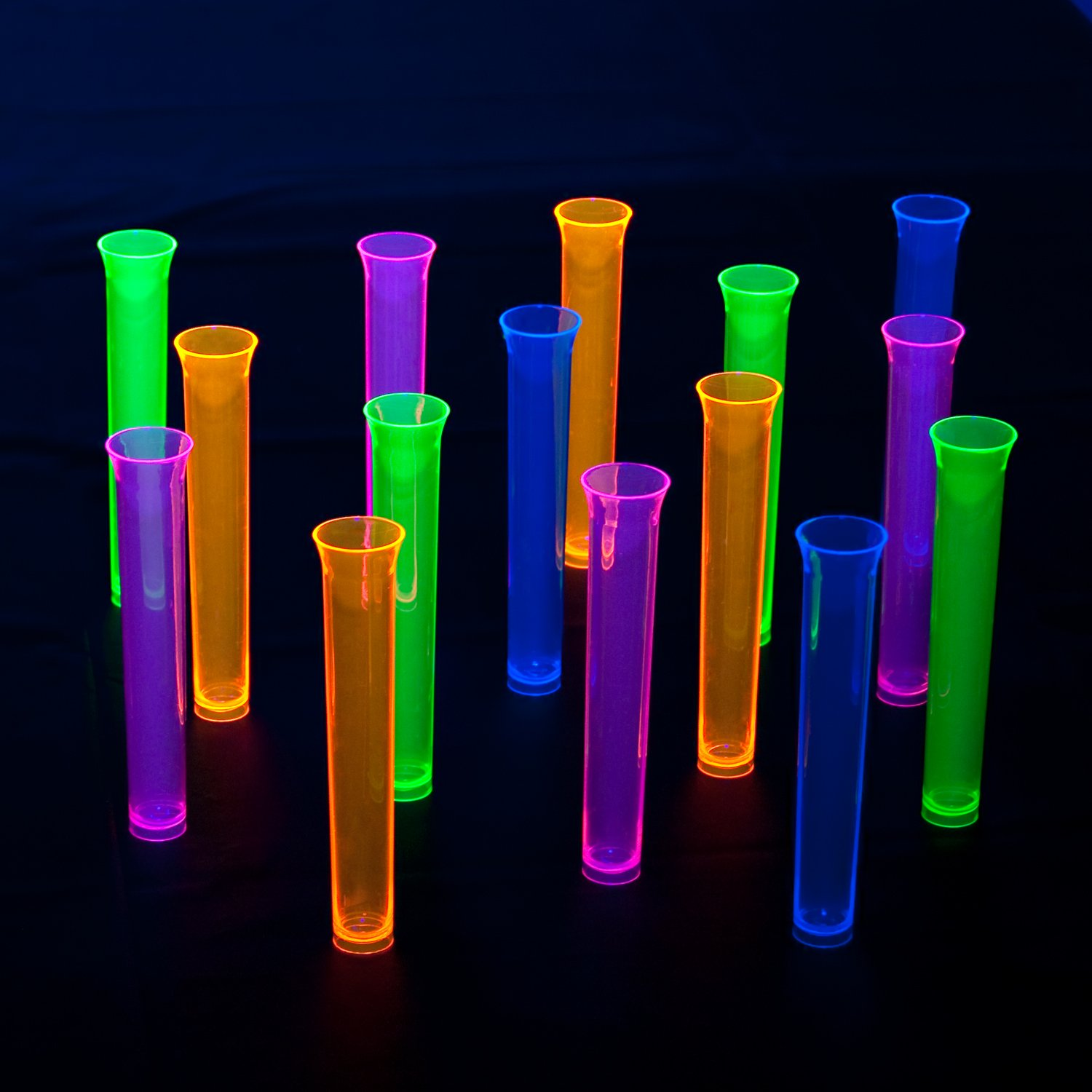 Assorted 15-Count Party Essentials SS-TRU-1483 1483 Neon Tube Shots