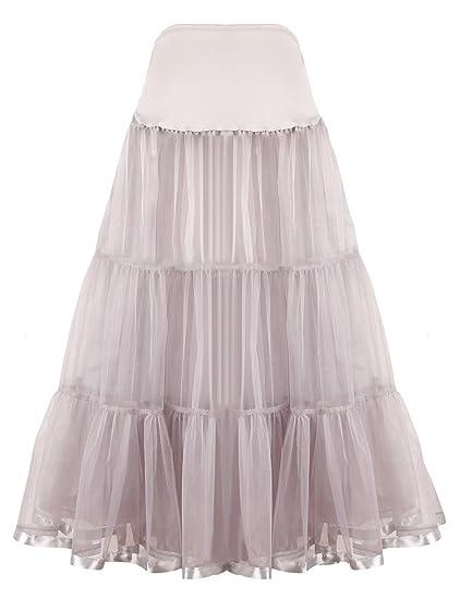 SHIMALY - Falda Larga para Vestido Formal de Boda para Mujer ...