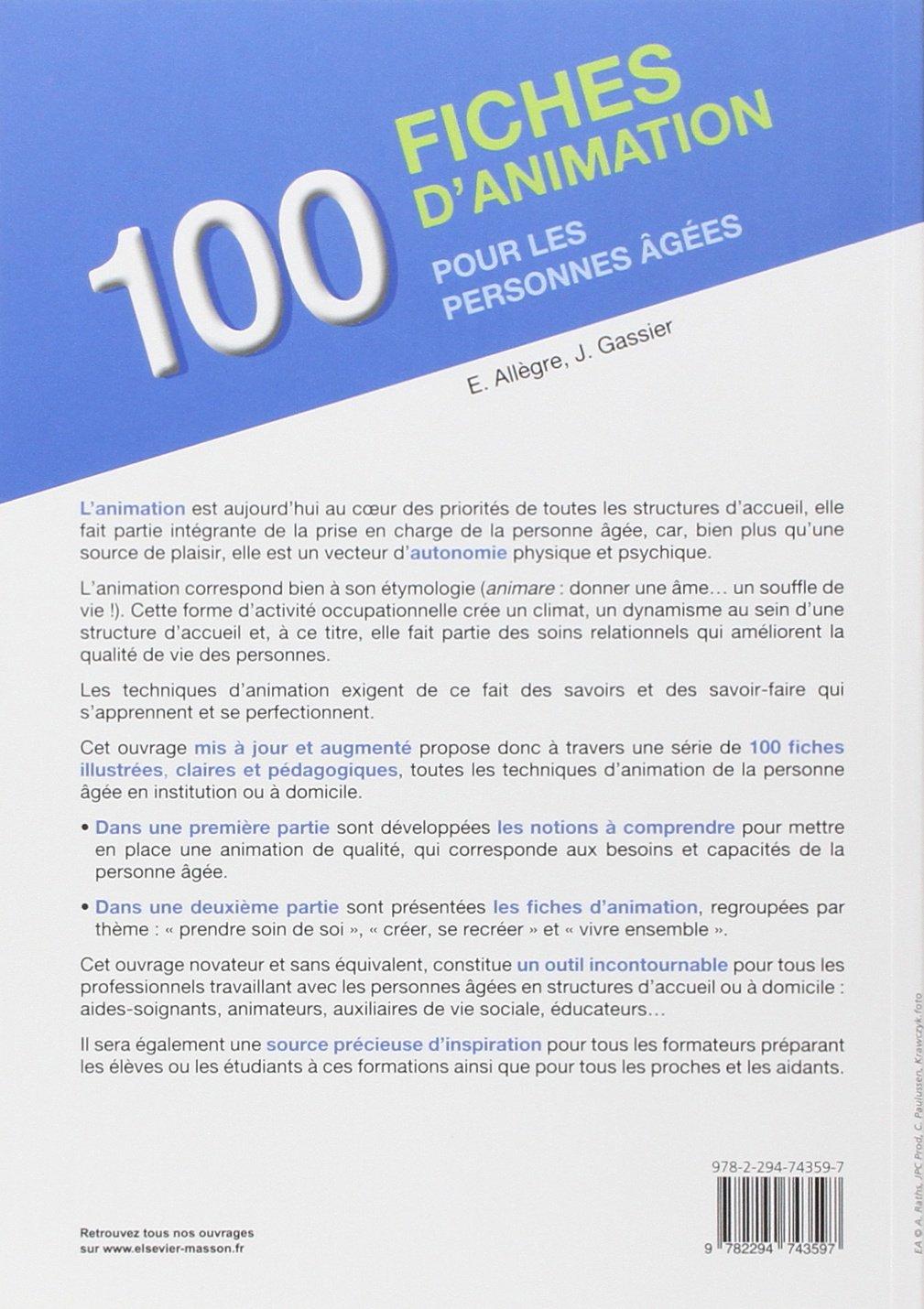 Favorit Amazon.fr - 100 fiches d'animation pour les personnes âgées  MB21