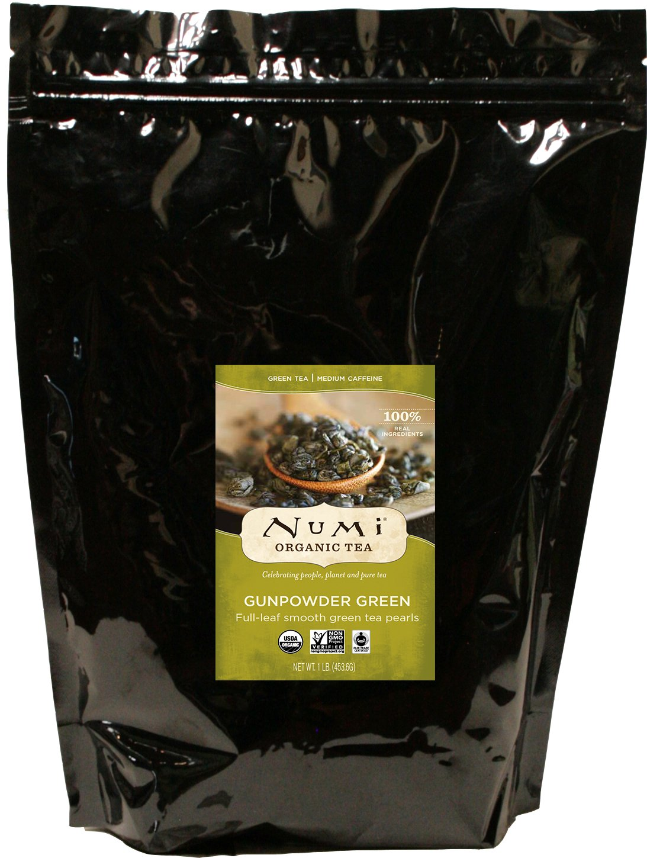 Numi Organic Tea Gunpowder Green, 16 Ounce Pouch, Loose Leaf Tea (Packaging May Vary) by Numi