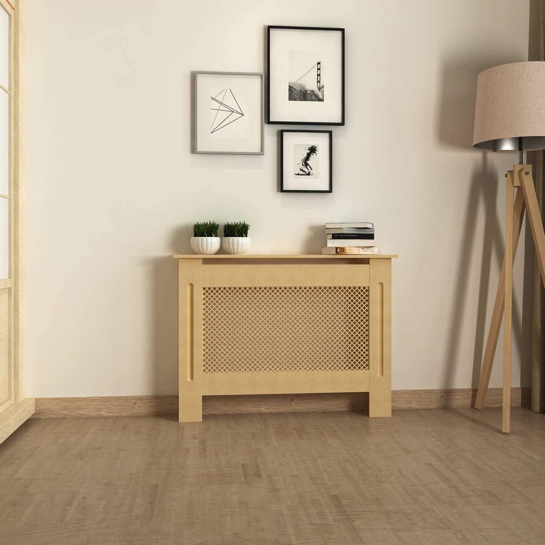 MODERN LIFE Radiators Cover Traditional MDF Radiator Heating Cover Cabinet Medium 112cm