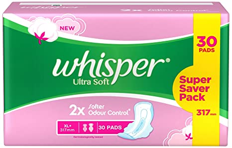 Buy Whisper Ultra Soft XL Plus Sanitary Pads - 30 Count Online at ...