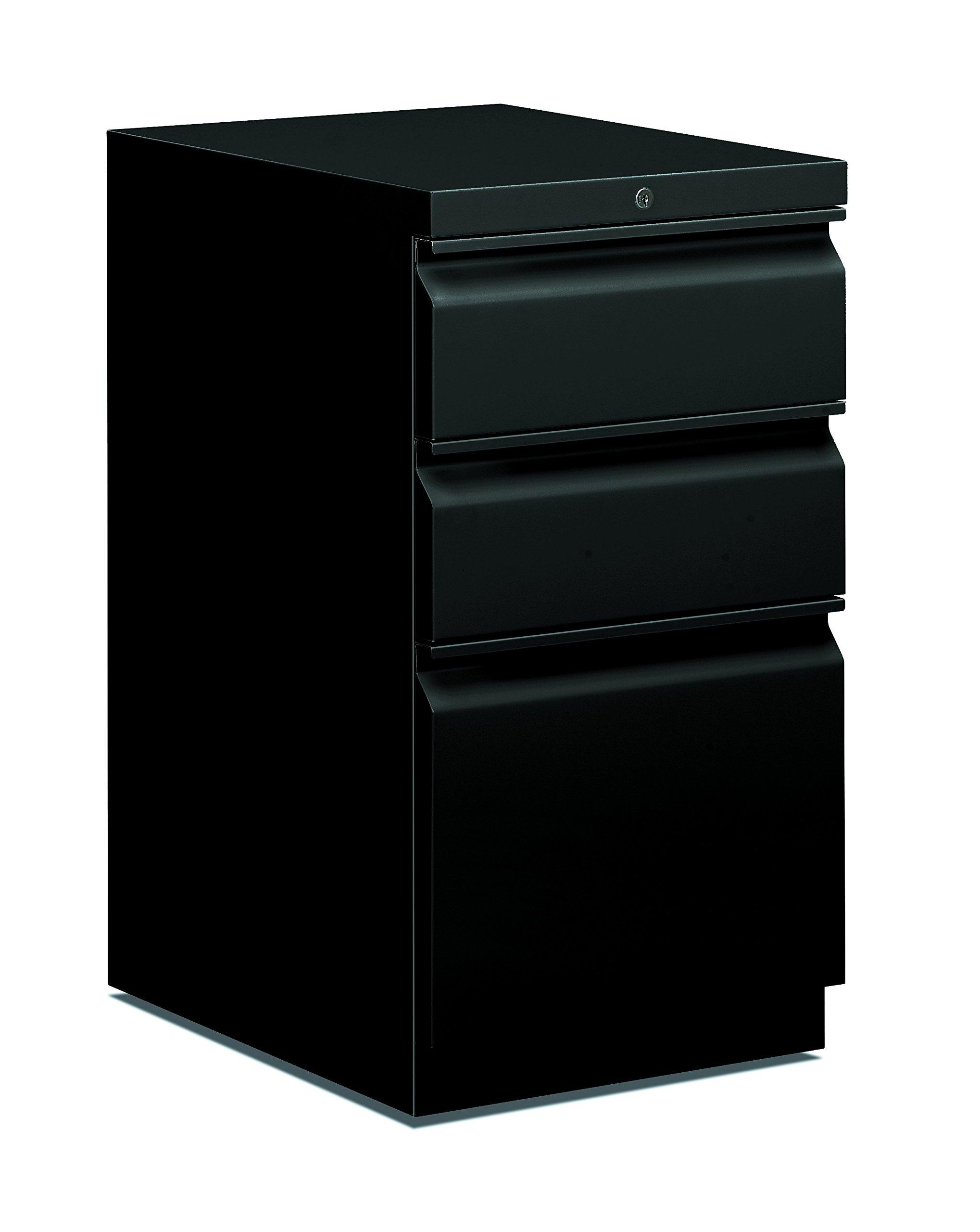 HON basyx HBMP2BP Mobile Pedestal File, Box/File, 15'' x 20'' x 28'', Black by HON