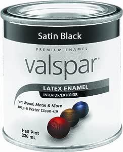 Valspar 65049 Premium Interior/Exterior Latex Enamel, .5-Pint, Stain Black