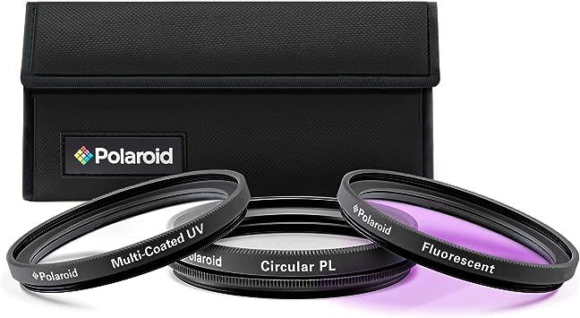 UV, CPL ed FLD Set di 3 Filtri Ottici Polaroid da 46 mm