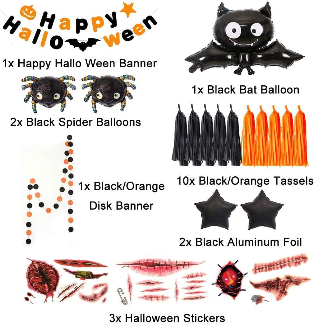10x Halloween Blood Handprint Ghost Pumpkin Latex Balloons Bar Party Decoration