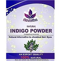 Havintha Natural Indigo Powder for Hair, Indigofera Tinctoria, 227 Grms