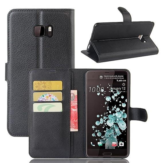 online retailer 6c77a b7220 Amazon.com: HTC U Ultra - phone case Cover for Wallet Style Flip ...