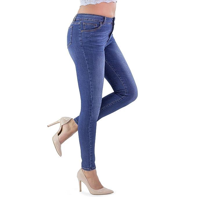 MAMAJEANS Santiago Deluxe Jeans Elasticizzati Donna Skinny alla Caviglia, Vita Medio Alta Attillati, Ultra Skinny Made in Italy