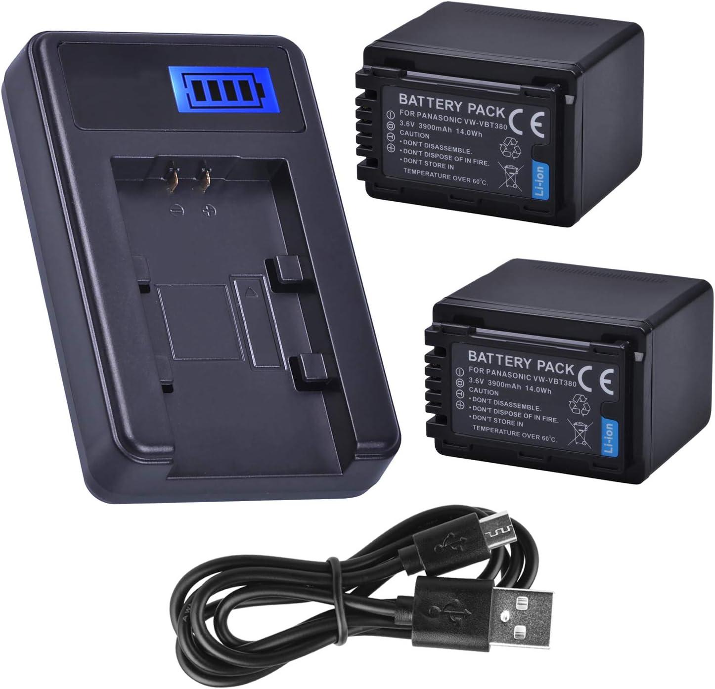 HC-V180EB-K HC-V380EG-K Full HD Camcorder Battery Charger for Panasonic HC-V180EG-K HC-V380EB-K