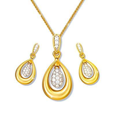 Buy joyalukkas pride diamond collection 18k yellow gold and diamond joyalukkas pride diamond collection 18k yellow gold and diamond jewellery set aloadofball Image collections