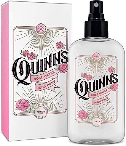 Amazon Com Quinn S Facial Toner Mist With Pure Rosewater Alcohol Free Moisturizer And Skincare For Face Hair And More 8 Ounce Health Personal Care