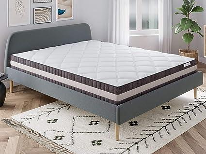 Hbedding - Conjunto de colchón de muelles (180 x 200 cm, con ...
