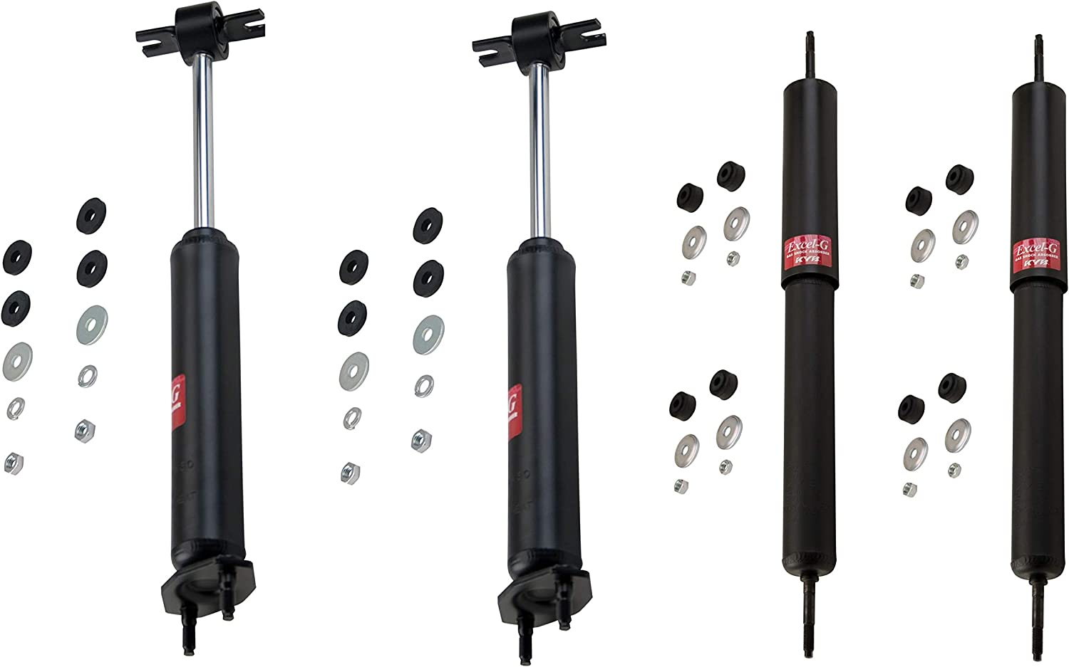 KYB Excel-G Front /& Rear Suspension Shock Absorbers Kit for Bricklin SV-1 Ford Mustang Mercury Cougar