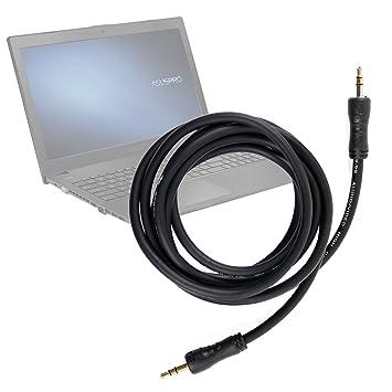DURAGADGET Cable De Audio De Excelente Calidad para Ordenador portátil ASUS P2520SA | P2520LA | HP 255 G4: Amazon.es: Electrónica