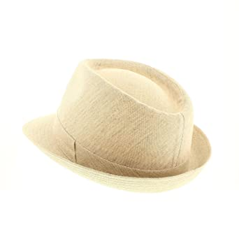 votrechapeau - Trilby Hat - Small - Lucca - Trim Linen  Amazon.co.uk   Clothing 5e2d1f7d0fb