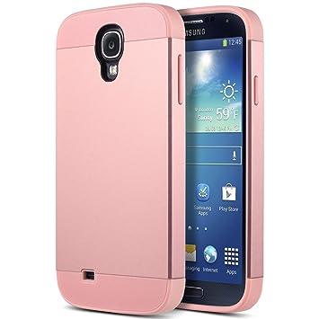 Carcasa S4, ULAK Galaxy S4 Case Funda Carcasa 2en1 híbrido de doble capa protectora de la cubierta de plástico duro y flexible de TPU delgado para ...