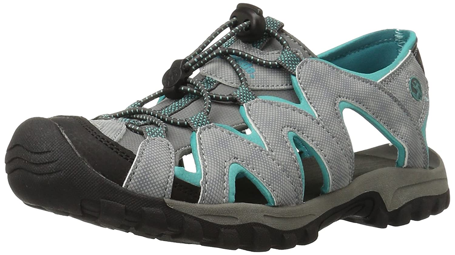 Northside Women's Corona Sandal B00E7OOPXI 7 B(M) US|Light Grey/Aqua