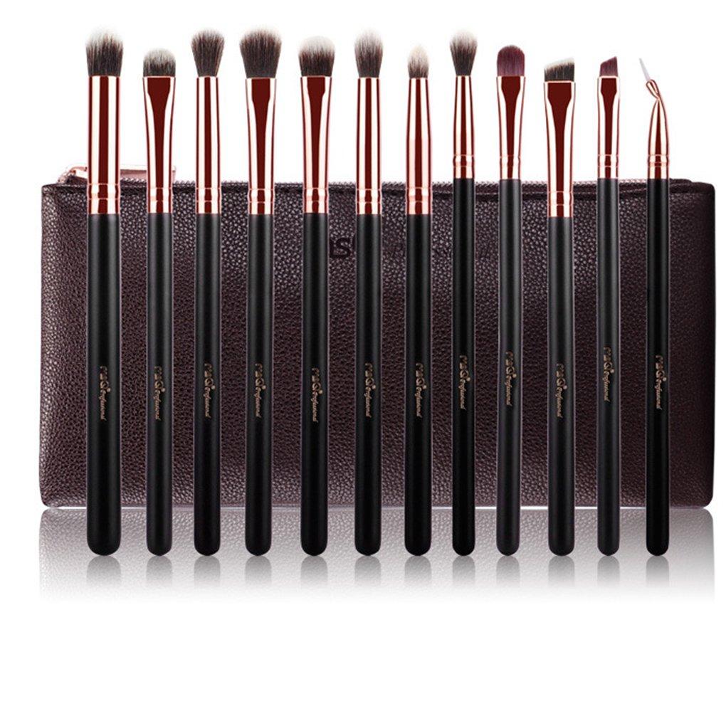 Babysbreath 12 PCS MSQ Professionnel Beaut/é Brosse Synth/étique Brosse Maquillage Set Ombre /à Paupi/ères Maquillage Brush Set