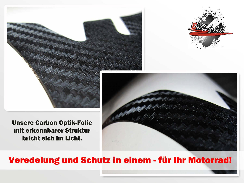 Tankpad 3D 501947 Bike-label Carbon Schwarz Tank-Schutz f/ür Motorrad-Tank