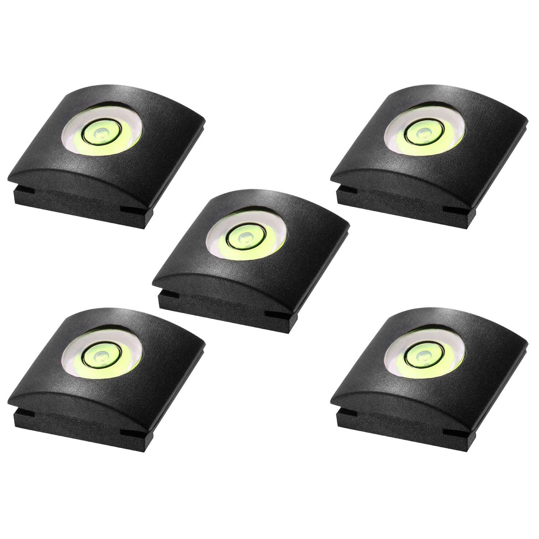 Neewer® 5PCS Camera Flashlight Hot Shoe Cover with Bubble Spirit Level for Canon, Nikon, Panasonic, Fujifilm, Olympus, Pentax, Sigma DSLR/SLR/Evil Camera 10088442