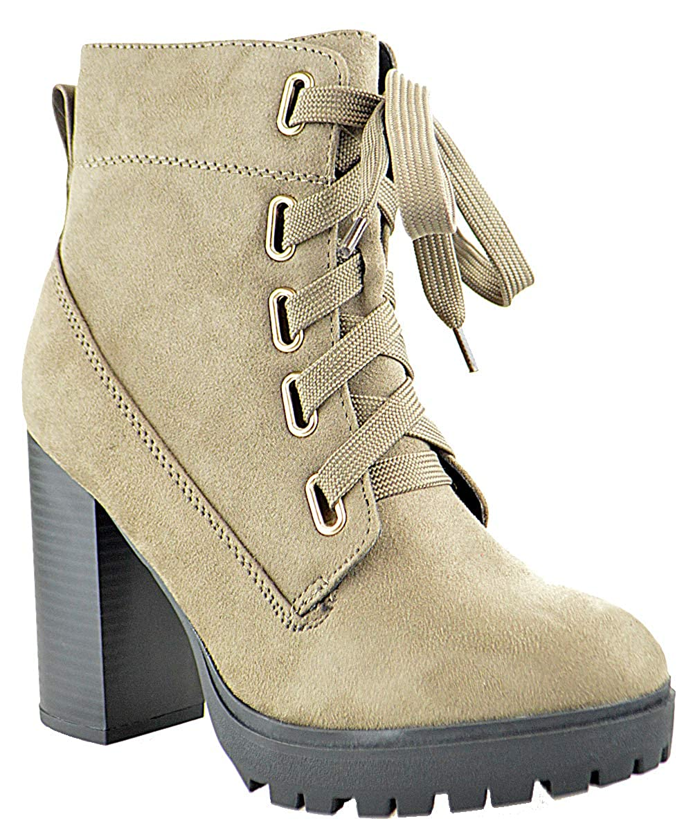c4ad5933616f8 Amazon.com | SOD Timeout S Womens Lace Up Chunky Heel Platform ...