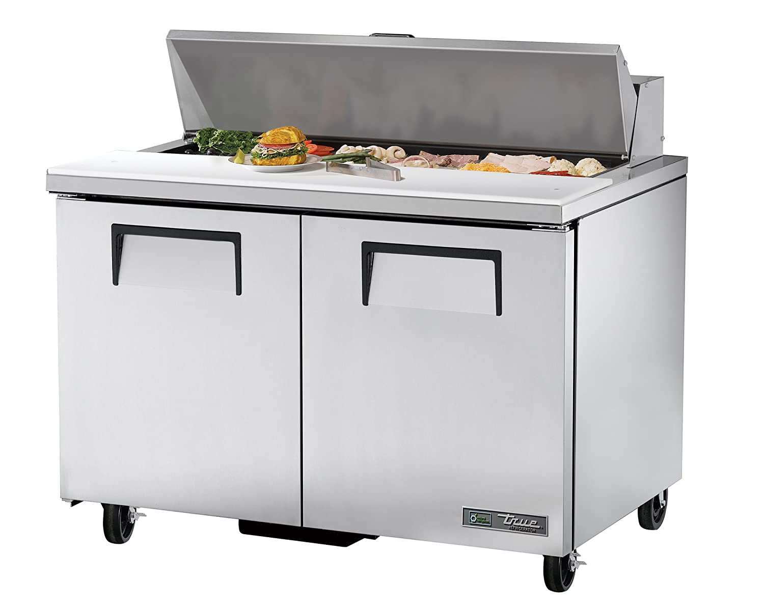True TSSU-48-12-HC Commercial Cold Food Prep Table with Hydrocarbon Refrigerant, 36.75
