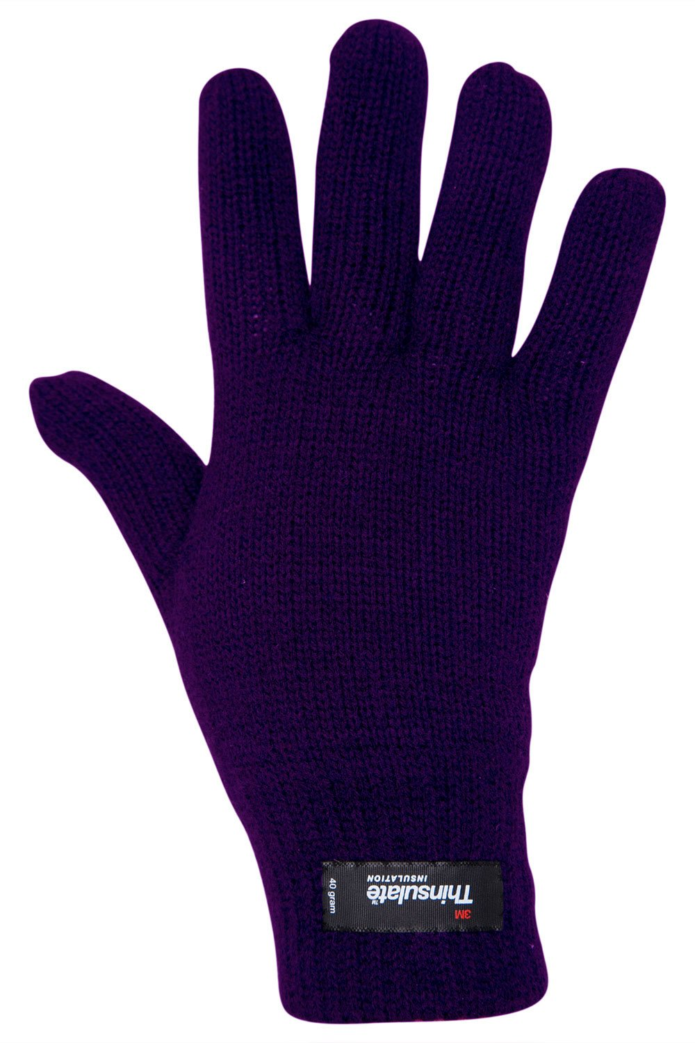 Mountain Warehouse Thinsulate Womens Knitted Gloves - Warm Mittens Black 019020005001