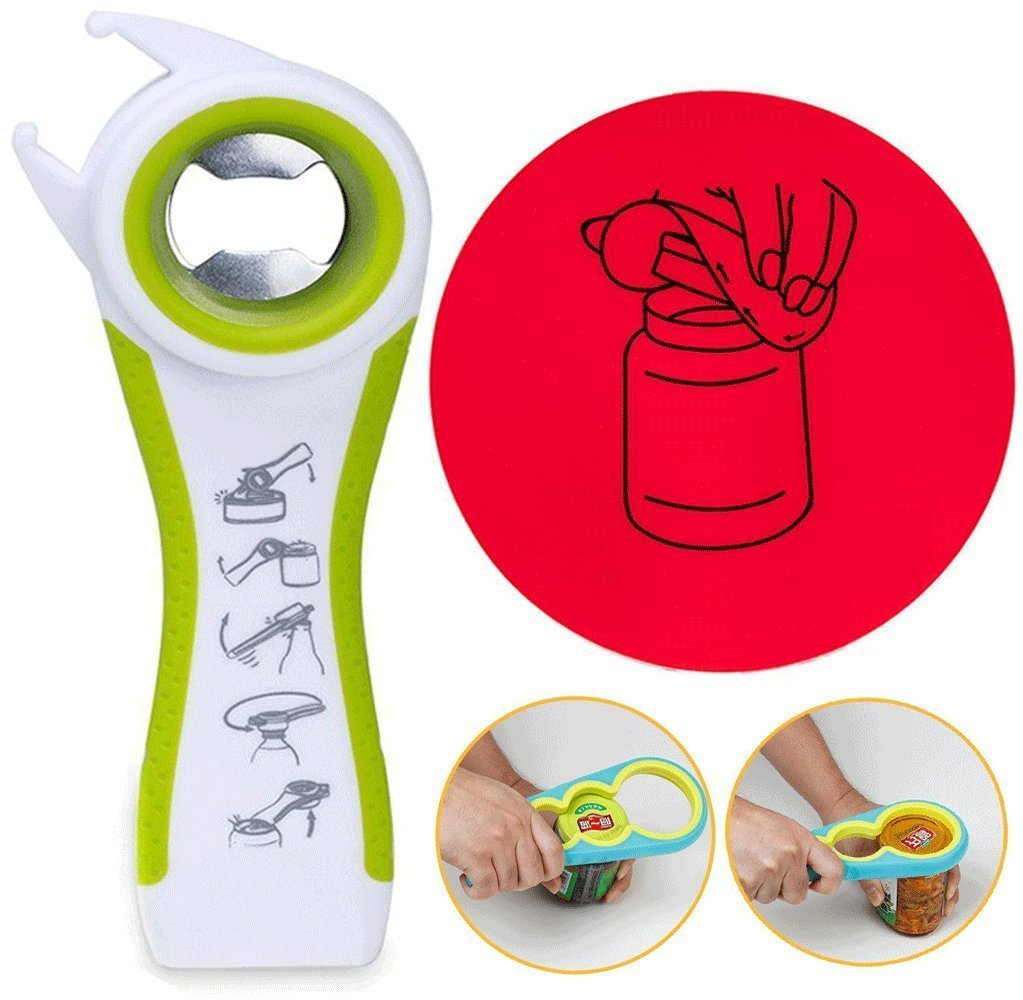 BAOLINK Jar Openers - Easy Grip Botter Opener Gripp Pad, Ideal Can / Soda Opener for Weak Hands and Seniors with Arthritis SZ-035
