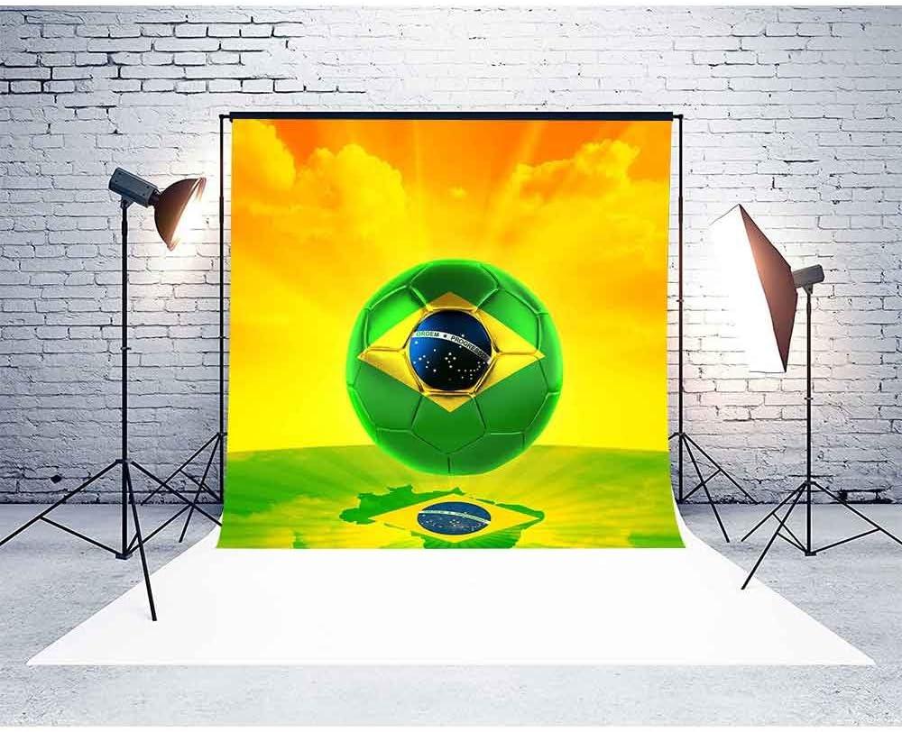 MTMETY Photography Backdrop 10x10ft Brazil Soccer Kingdom Background World Cup Theme Photography Vinyl Photo Studio Props GYMM374