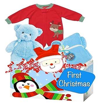 Baby Boys First Christmas Gift with Carters Christmas Pajamas, ...