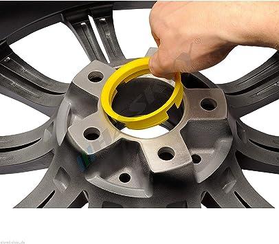 4 Zentrierringe Aluminium Eloxiert Alu 70 0 57 1 Alutec Anzio Magma Rial Kronprinz Auto