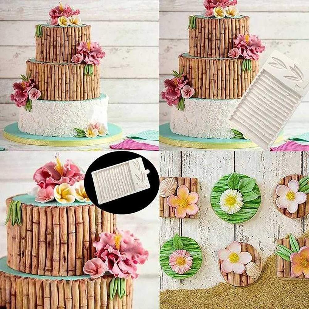 CFPacrobaticS Bambusblatt-Kuchen-Fondant-Schokoladen-Geb/äck-Form-dekoratives Pl/ätzchen-DIY-Backen-Werkzeug Random Color
