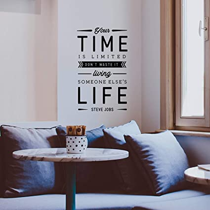 Amazoncom Vinyl Wall Art Decal Your Time Is Limited Dont Waste