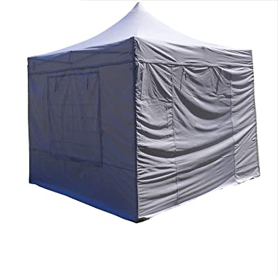 DELTA Canopies 10'x10' Fire Retardant Pop up Canopy Wedding Party Tent Gazebo EZ White - F Model Commercial Frame : Garden & Outdoor